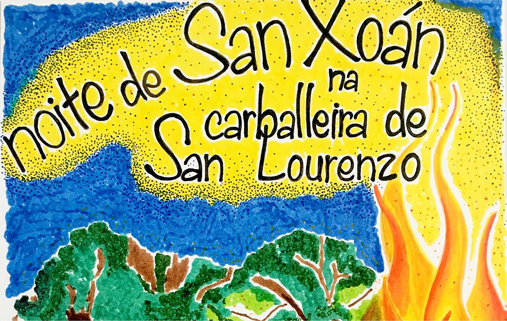 Festa de San Xoán con cacharela, churrasco e boa música na Carballeira de San Lourenzo